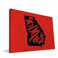 "Georgia Bulldogs 8"" x 12"" Mascot Canvas Print"