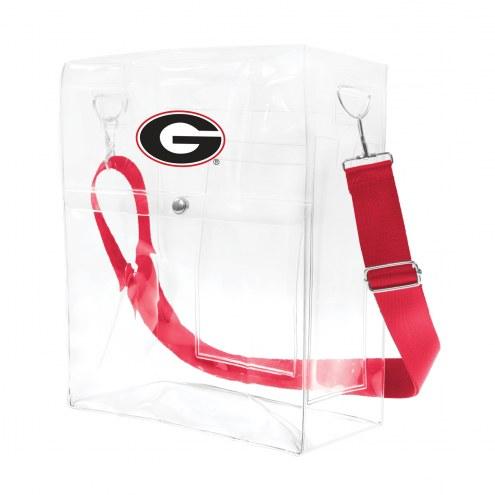 Georgia Bulldogs Clear Ticket Satchel