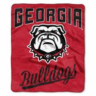 Georgia Bulldogs Alumni Raschel Throw Blanket
