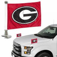 Georgia Bulldogs Ambassador Hood & Trunk Car Flag