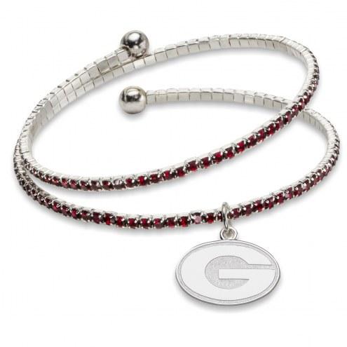 Georgia Bulldogs Amped Logo Crystal Bracelet