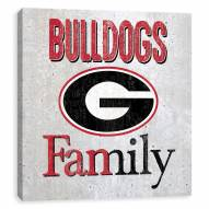 Georgia Bulldogs Fanmily Printed Concrete Wall Decor