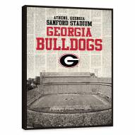 Georgia Bulldogs Newspaper Stadium Framed Printed Canvas
