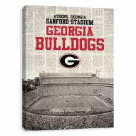 Georgia Bulldogs Newspaper Stadium Printed Canvas