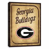 Georgia Bulldogs Vintage Card Printed Canvas
