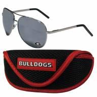 Georgia Bulldogs Aviator Sunglasses and Sports Case
