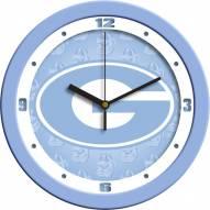 Georgia Bulldogs Baby Blue Wall Clock