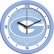 Georgia Bulldogs Baby Blue Wall Clock