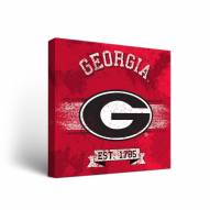 Georgia Bulldogs Banner 1 Canvas Wall Art