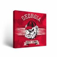 Georgia Bulldogs Banner 2 Canvas Wall Art