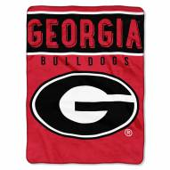 Georgia Bulldogs Basic Raschel Blanket