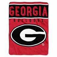 Georgia Bulldogs Basic Raschel Blanket