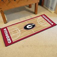 Georgia Bulldogs Basketball Court Runner Rug