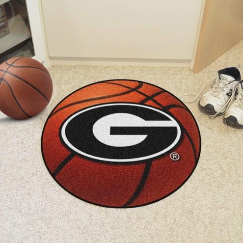 Georgia Bulldogs Basketball Mat