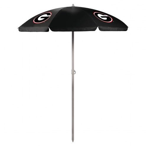 Georgia Bulldogs Beach Umbrella