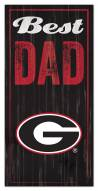 Georgia Bulldogs Best Dad Sign