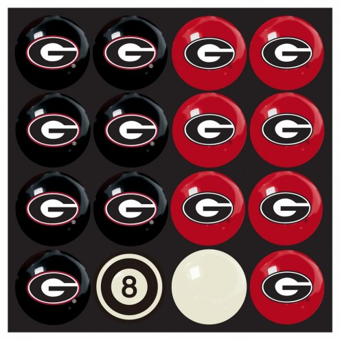 Georgia Bulldogs Home vs. Away Pool Ball Set