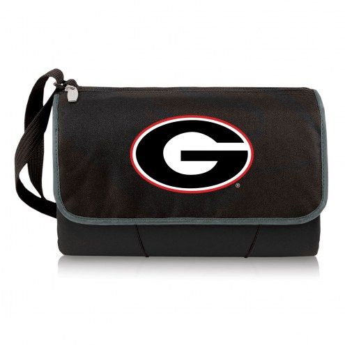 Georgia Bulldogs Black Blanket Tote