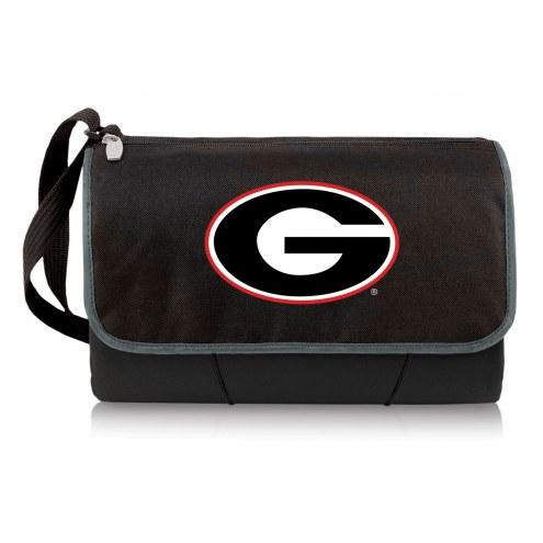Georgia Bulldogs Black Blanket Tote