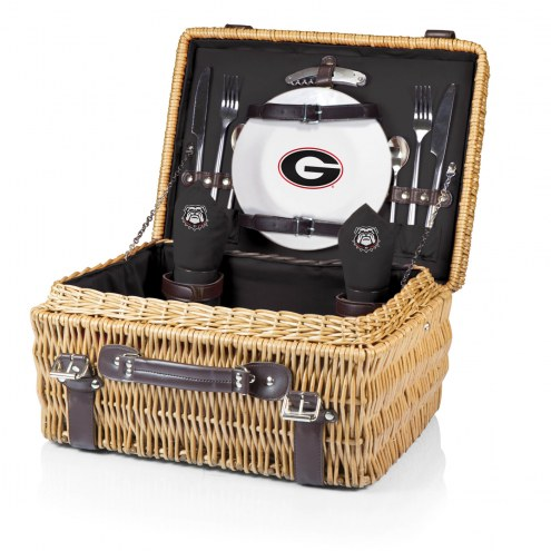 Georgia Bulldogs Black Champion Picnic Basket
