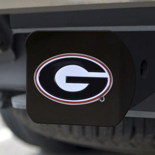 Georgia Bulldogs Black Color Hitch Cover