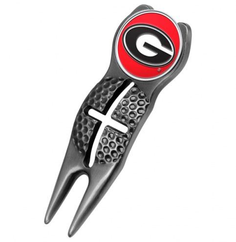 Georgia Bulldogs Black Crosshairs Divot Tool