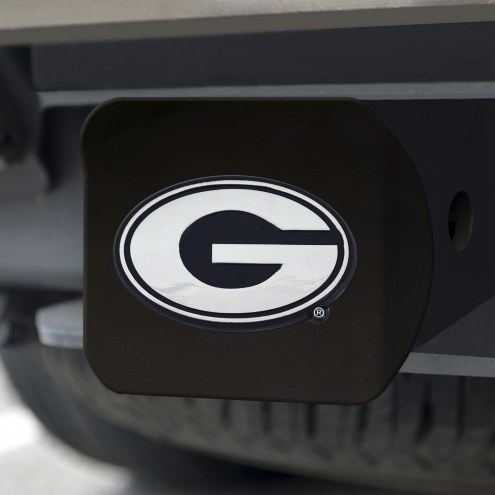 Georgia Bulldogs Black Matte Hitch Cover