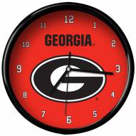 Georgia Bulldogs Black Rim Clock