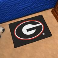 Georgia Bulldogs Black Starter Rug