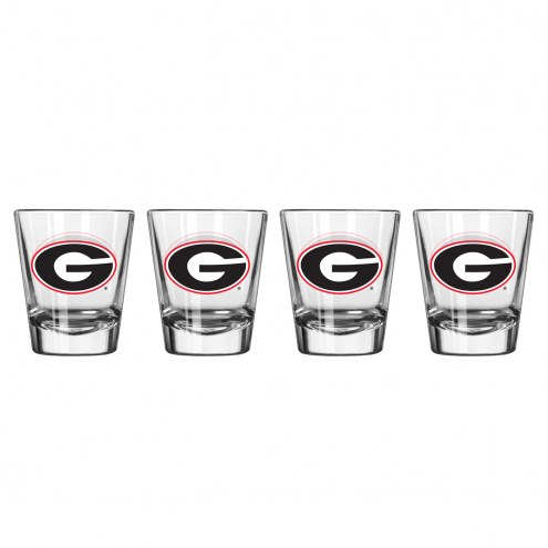 Georgia Bulldogs Satin Etch Shot Glass Set