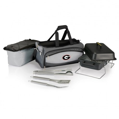 Georgia Bulldogs Buccaneer Grill, Cooler and BBQ Set
