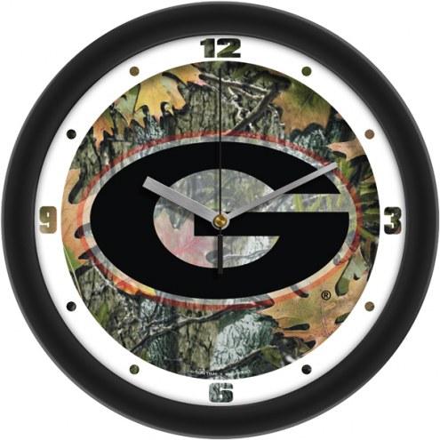 Georgia Bulldogs Camo Wall Clock