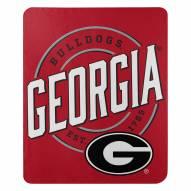 Georgia Bulldogs Campaign Fleece Throw Blanket