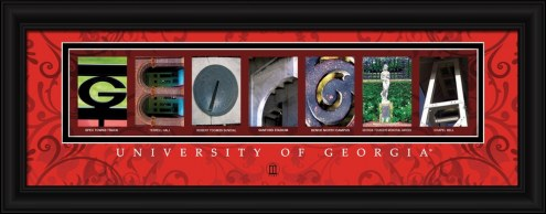 Georgia Bulldogs Campus Letter Art