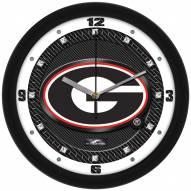 Georgia Bulldogs Carbon Fiber Wall Clock