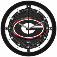 Georgia Bulldogs Carbon Fiber Wall Clock