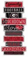 Georgia Bulldogs Celebrations Stack Sign