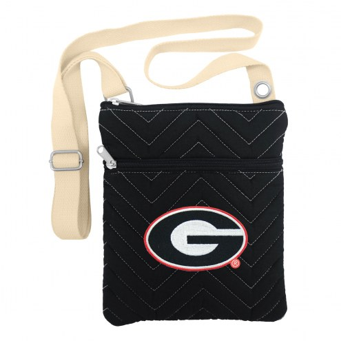 Georgia Bulldogs Chevron Stitch Crossbody Bag