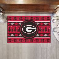 Georgia Bulldogs Christmas Sweater Starter Rug