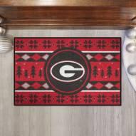 Georgia Bulldogs Christmas Sweater Starter Rug