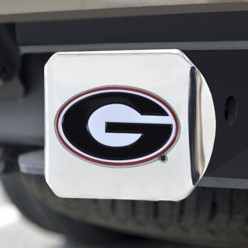 Georgia Bulldogs Chrome Color Hitch Cover