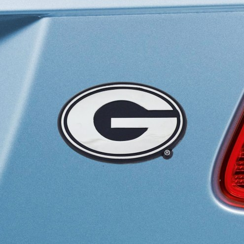 Georgia Bulldogs Chrome Metal Car Emblem