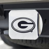 Georgia Bulldogs Chrome Metal Hitch Cover