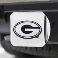 Georgia Bulldogs Chrome Metal Hitch Cover