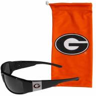 Georgia Bulldogs Chrome Wrap Sunglasses & Bag