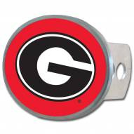 Georgia Bulldogs Class II and III Oval Metal Hitch Cover