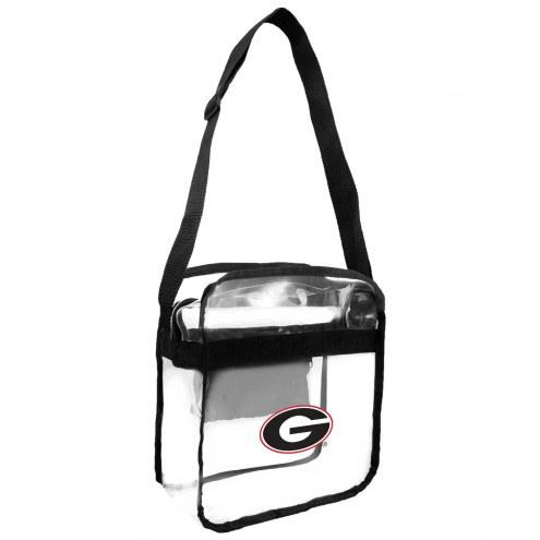 Georgia Bulldogs Clear Crossbody Carry-All Bag