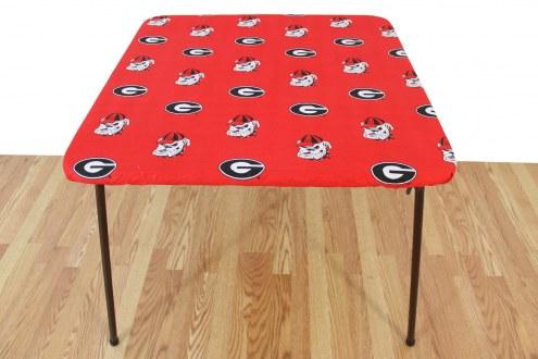 Georgia Bulldogs Card Table Cover