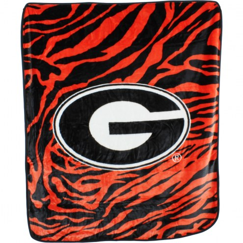 Georgia Bulldogs Raschel Throw Blanket