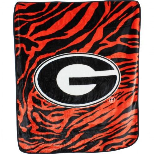 Georgia Bulldogs Raschel Throw Blanket